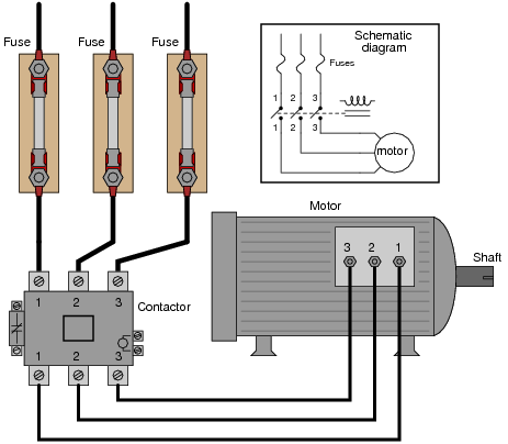 AC Motor Control Circuits Diagram